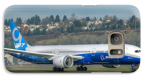 Galaxy Case featuring the photograph Boeing 787-9 Takeoff by Jeff Cook