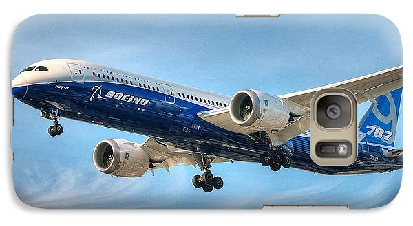 Galaxy Case featuring the photograph Boeing 787-9 Wispy by Jeff Cook