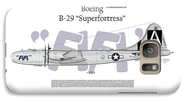 Galaxy Case featuring the digital art Boeing B-29 Superfortress Fifi by Arthur Eggers