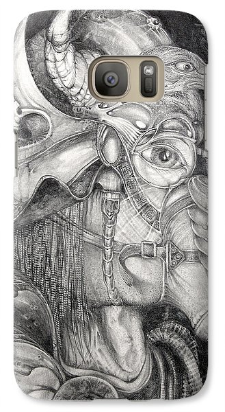 Galaxy Case featuring the drawing Bogomils Duckhunting Mask by Otto Rapp