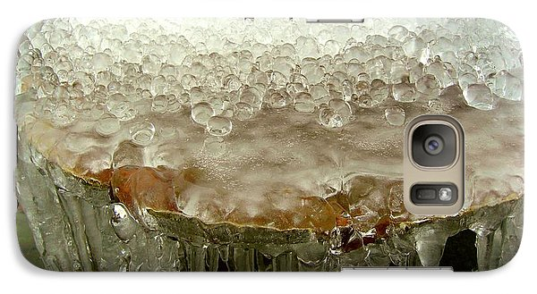 Galaxy Case featuring the photograph Boiling Ice by Heidi Manly