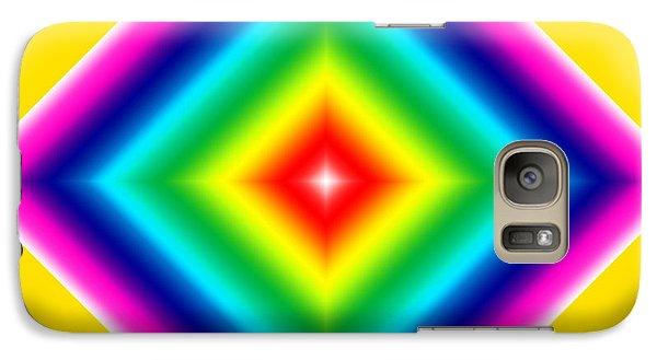 Galaxy Case featuring the digital art Bold Diamond On Yellow by Karen Nicholson