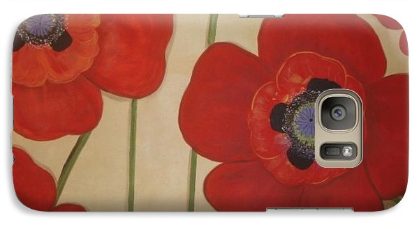 Galaxy Case featuring the painting Bold Poppies by Cindy Micklos