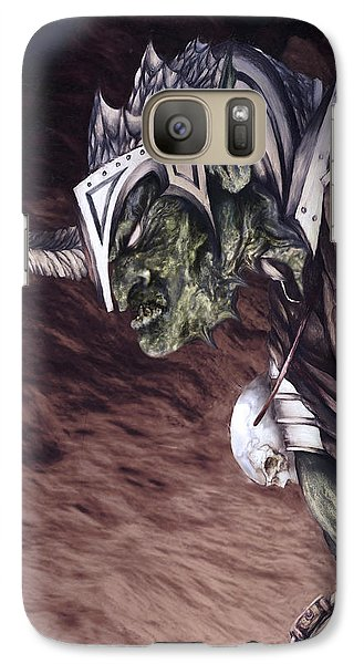 Galaxy Case featuring the mixed media Bolg The Goblin King 2 by Curtiss Shaffer