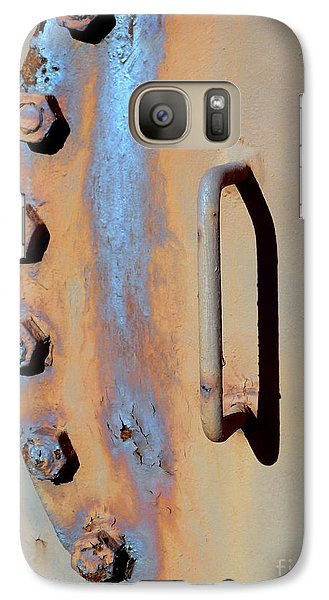 Galaxy Case featuring the photograph Bolted Hatch by Robert Riordan