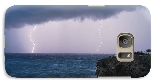 Galaxy Case featuring the photograph Bolts On The Water by Erhan OZBIYIK