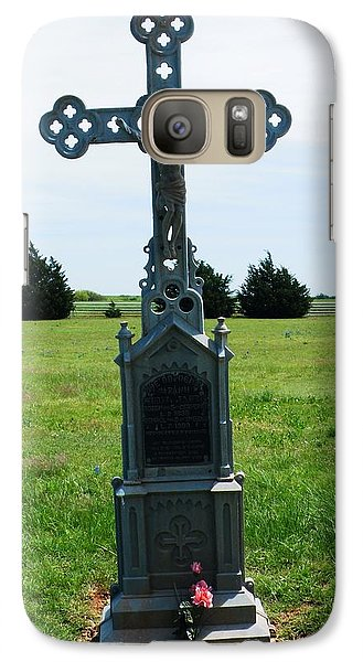 Galaxy Case featuring the photograph Bomarton Catholic Cemetery 9 by The GYPSY And DEBBIE