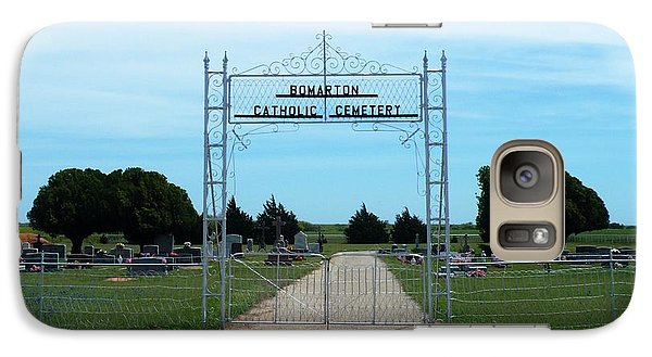 Galaxy Case featuring the photograph Bomarton Catholic Cemetery 1 by The GYPSY And DEBBIE