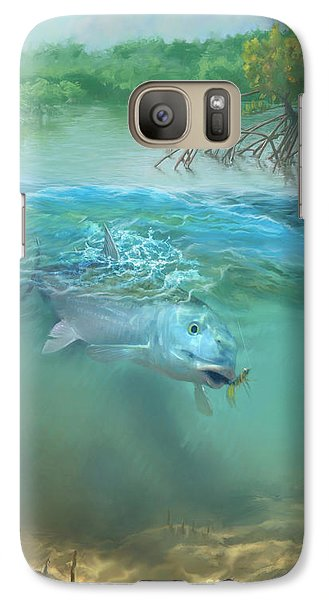 Galaxy Case featuring the painting Bone Fish by Rob Corsetti