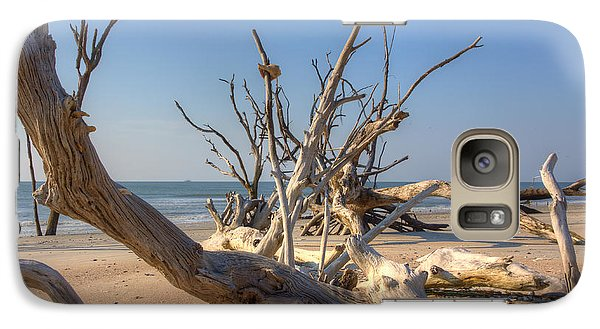 Galaxy Case featuring the photograph Boneyard Beach by Patricia Schaefer