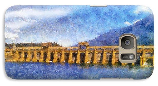 Galaxy Case featuring the digital art Bonneville Dam by Kaylee Mason