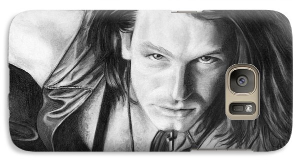 Galaxy Case featuring the drawing Bono by Janice Dunbar
