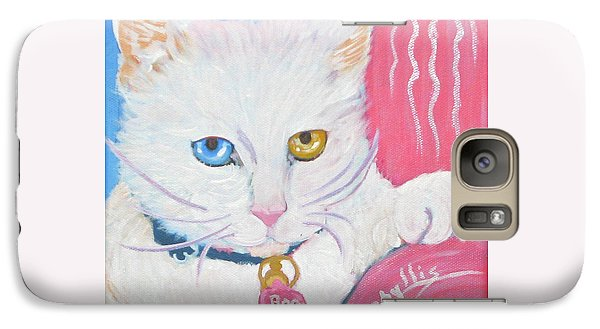 Galaxy Case featuring the painting Boo Kitty by Phyllis Kaltenbach