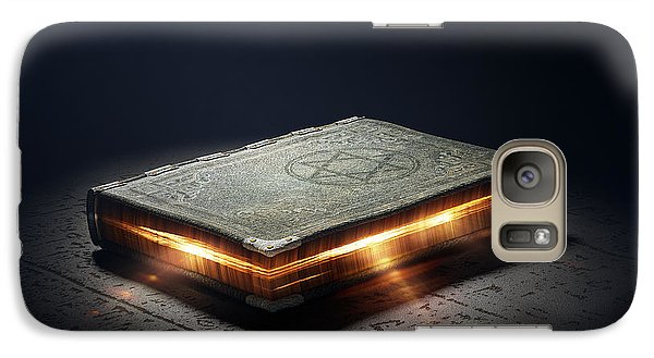 Book With Magic Powers Galaxy Case by Johan Swanepoel