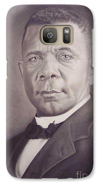 Galaxy Case featuring the drawing Booker T Washington by Wil Golden
