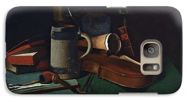 Violin Galaxy S7 Case - Books Mug Pipe And Violin by John Frederick Peto