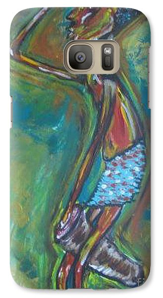 Galaxy Case featuring the painting Boom Boom by Lucy Matta