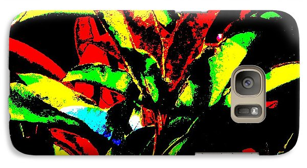 Galaxy Case featuring the mixed media Booming Colors by Gayle Price Thomas