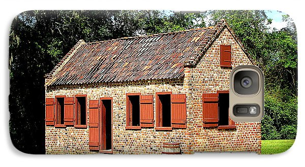 Galaxy Case featuring the photograph Boone Hall Plantation Slave Quarters by Greg Simmons