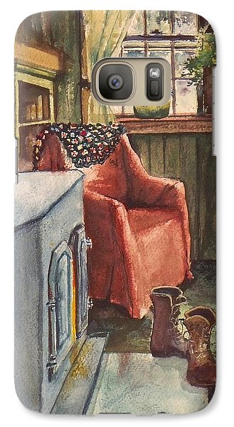 Galaxy Case featuring the painting Boots by Joy Nichols