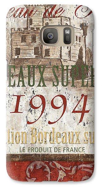 Bordeaux Blanc Label 2 Galaxy S7 Case by Debbie DeWitt