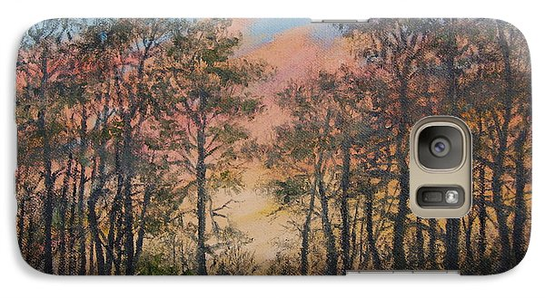 Galaxy Case featuring the painting Border Pines by Kathleen McDermott