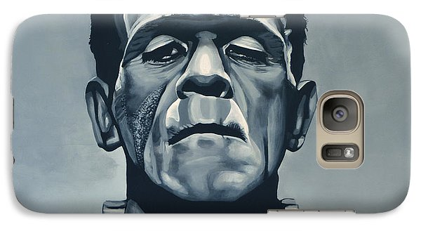 Realistic Galaxy S7 Case - Boris Karloff As Frankenstein  by Paul Meijering