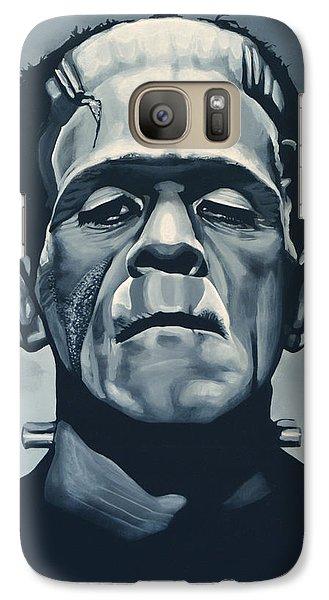 Portraits Galaxy S7 Case - Boris Karloff As Frankenstein  by Paul Meijering
