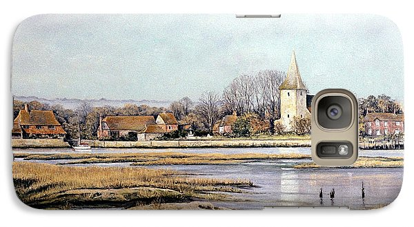 Galaxy Case featuring the painting Bosham Harbour by Rosemary Colyer