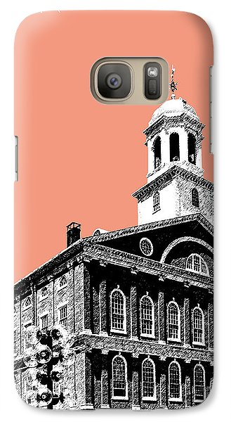 Boston Faneuil Hall - Salmon Galaxy S7 Case by DB Artist