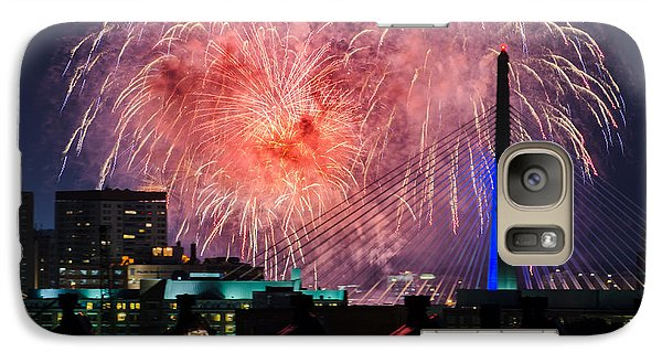 Galaxy Case featuring the photograph Boston Fireworks 1 by Mike Ste Marie