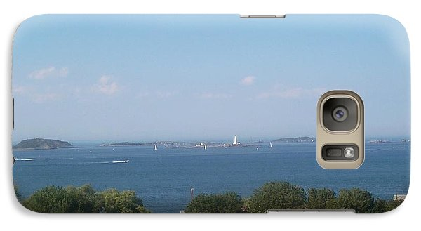 Galaxy Case featuring the photograph Boston Harbor From Hull by Barbara McDevitt