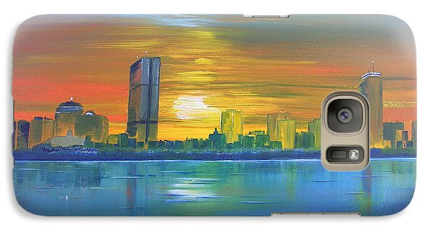 Galaxy Case featuring the painting Boston II by Barbara Hayes