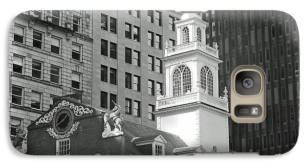 Galaxy Case featuring the photograph Boston Old State House by Cheryl Del Toro