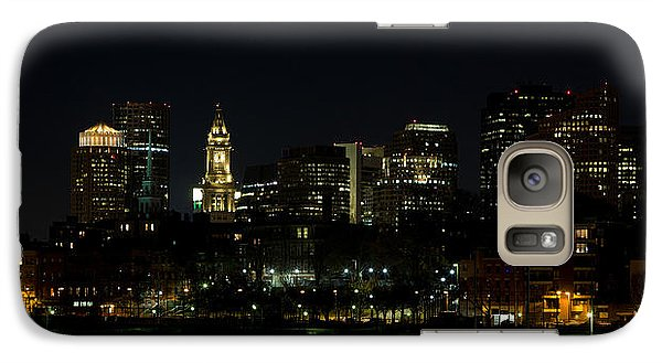Galaxy Case featuring the photograph Boston Skyline On An Autumn Night by John Hoey