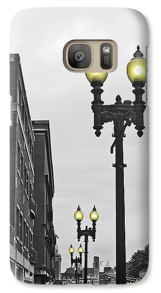 Galaxy Case featuring the photograph Boston Streetlamps by Cheryl Del Toro