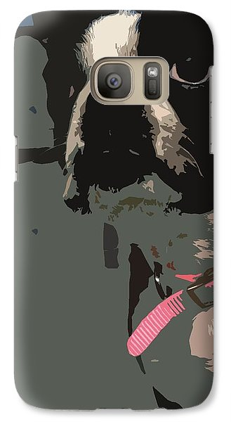 Galaxy Case featuring the digital art Boston Terrier Art01 by Donald Williams