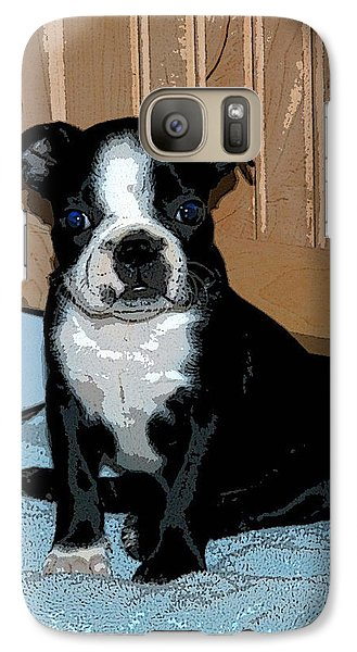 Galaxy Case featuring the photograph Boston Terrier Art02 by Donald Williams