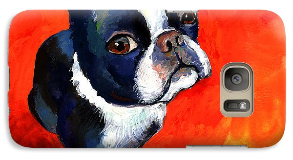 Boston Terrier Dog Painting Prints Galaxy S7 Case by Svetlana Novikova