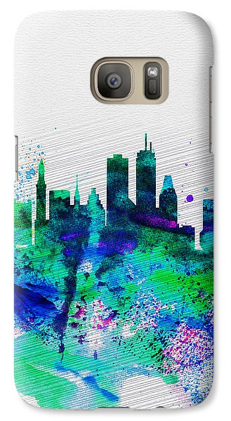 Boston Watercolor Skyline Galaxy S7 Case by Naxart Studio