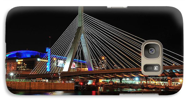 Galaxy Case featuring the photograph Boston's Zakim-bunker Hill Bridge by Mitchell R Grosky