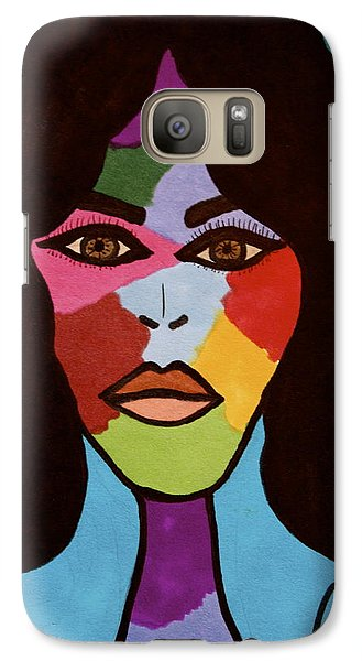 Galaxy Case featuring the drawing Bottlenecked Betty by Chrissy Pena