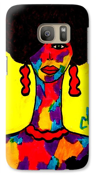 Galaxy Case featuring the drawing Bottlenecked Diva by Chrissy Pena