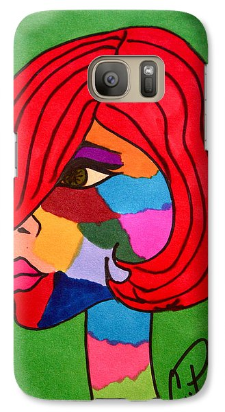 Galaxy Case featuring the drawing Bottlenecked Gretchen by Chrissy Pena