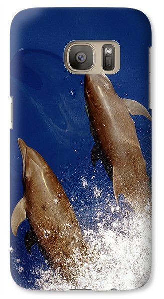 Bottlenose Dolphins Tursiops Truncatus Galaxy S7 Case by Anonymous