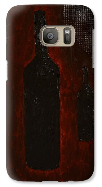 Galaxy Case featuring the painting Bottles by Shawn Marlow