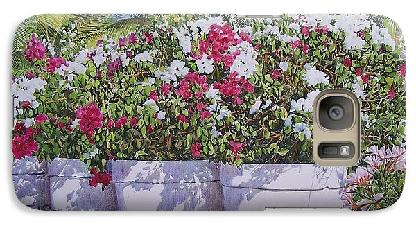 Galaxy Case featuring the mixed media Bougainvillea by Constance Drescher