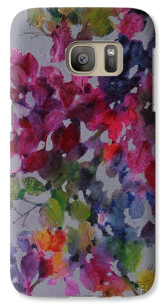 Galaxy Case featuring the painting Bougainvillea by Michelle Abrams