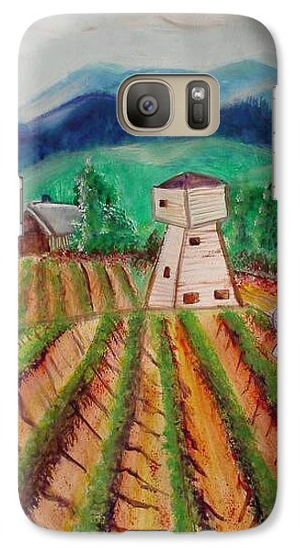 Galaxy Case featuring the painting Bountiful Harvest by Carol Duarte