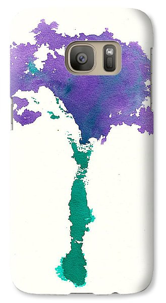Galaxy Case featuring the painting Bouquet Abstract 1 by Frank Bright